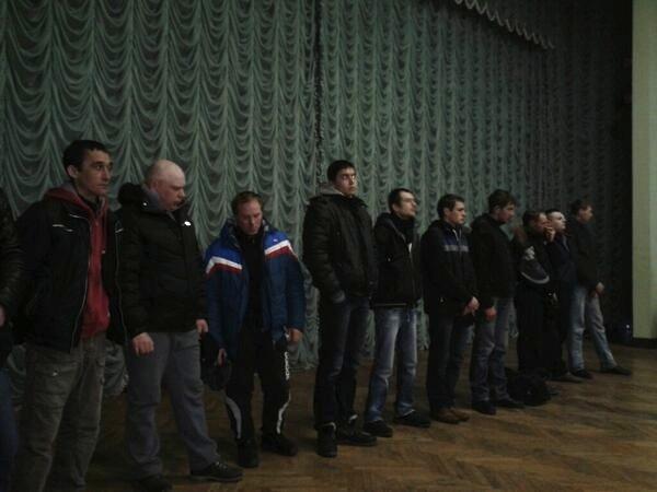 Титушки, которых поймали ночью на ул. Грушевского